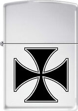 Iron Cross ~ Knight's Cross ~ German Military Award ~ Chrome Zippo Lighter