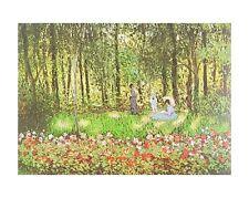 Claude Monet les artistes famille dans le jardin dans Argenteuil poster image