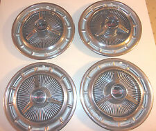 1965 1966 Chevy Impala Nova SS Hub Caps Set Of 4 Stainless Chrome Spinners-HC745
