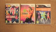 Nintendo Wii Game Joblot x 3 - Just Dance 4, Just Dance 2 & Zumba Fitness!!!