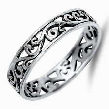USA Seller Tiny Wave Band Ring Sterling Silver 925 Best Deal Jewelry Size 4