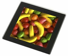 Fruit Sweets Black Rim Glass Coaster Animal Breed Gift, F-F1GC