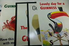 NOS Complete Vintage Guinness Beer (4) PC Poster Promo Advertising Set Lot New!!