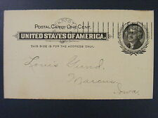 Brockport New York NY Monroe County 1902 Doremus Type D Cancel UX 14 Postal Card
