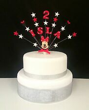 Minnie mouse or mickey mouse birthday cake topper decoration (any name and age)