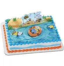 NEW! Despicable Me 2 Beach Party DecoSet Cake Decoration , New, Free Shipping