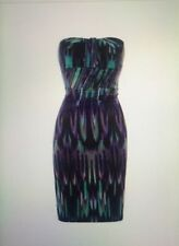 KAREN MILLEN Marble Print Strapless Pencil Dress Size 10 BNWT