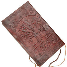 Sacred Tree Of Life Celtic Embossed Handmade Leather  Blank Journal /Diary
