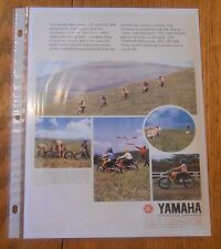 1972 YAMAHA MINI-ENDURO JT1 JT2MX JT2  AD/ BROCHURE