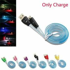 Visible Light-up LED Charger Cable Micro USB For Android Phones Smile Face