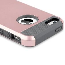 Hard&Soft Rugged Rubber Silicone Protective Case Cover for Apple iPhone 5 5