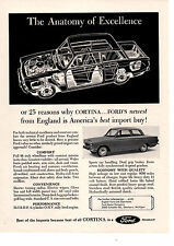 1963 FORD CORTINA  ~  NICE ORIGINAL PRINT AD