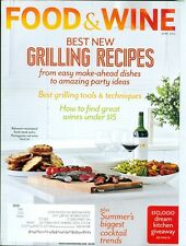 2012 Food & Wine Magazine: Grilling Recipes/Great Wine Under $15/Cocktail Trends