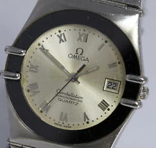 Authentic OMEGA Constellation Date Silver dial Quartz Men's wrist watch_302098