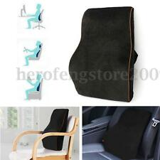 Black Memory Foam Car Back Pillow Cushion Lumbar Support Home Office Seat Chair