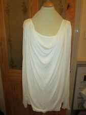 cotton traders cream long sleeve cowl neck tunic top size 18 brand new with tags