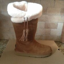 Ugg Plumdale Tall Chestnut Suede / Sheepskin Warm Snow Boots US 8 Womens 1894