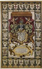 "CREST OF KINGS 63"" TAPESTRY  COAT OF ARMS French Royal Shield Crown Unicorn Lion"