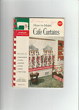 Vintage 1961 How to Make Cafe Curtains instructions Singer sewing Library