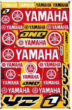 YAMAHA Sticker Vinyl Decals Red Yellow Motorcycle Racing Bike New Free Shipping