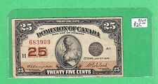 1923 Dominion of Canada - 25 Cents Bank Note - F/VF Campbell Clark - 683909