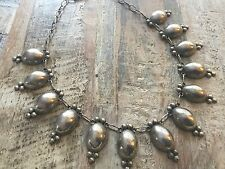 Taxco Vintage Sterling Silver Dangle Necklace Estate Jewelry Signed Mexico