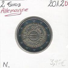 2 Euro GERMANIA 2012 Lettera: D Conservazione 10 anni della in circolazione)