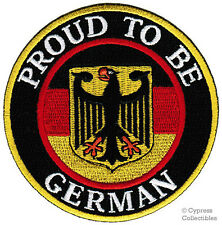 PROUD TO BE GERMAN embroidered iron-on PATCH GERMANY FLAG Aufnäher Deutschland