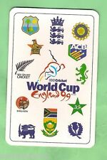 1999 CRICKET WORLD CUP PLAYING CARD - SOUTH AFRICA TEAM  REVERSE PICTURE