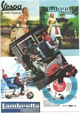 5 SCOOTER POSTCARDS. Vespa, mod, 60's.