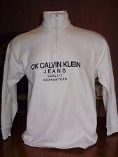 VINTAGE 90's CALVIN KLEIN JEANS 1/4 ZIP PULLOVER SWEATSHIRT CK medium