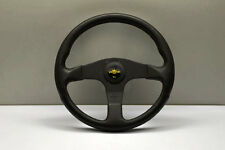 PERSONAL GRINTA BLITZ POLYURETHANE BLACK SPOKES STEERING WHEEL YELLOW HORN 330MM
