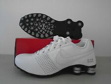 New Nike Shox Deliver White Leather Running Shoes sz 10