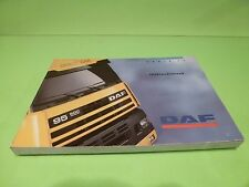 VINTAGE DAF TRUCK SERIE 95 SPACE CAB - INSTRUCTIEBOEK INSTRUCTION BOOK - GOOD