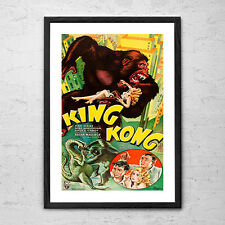 King Kong - Vintage Retro Horror Sci Fi Cult Movie Poster Print