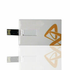 2GB Ultra Slim White Credit Card Style Flash Memory Stick USB 2.0 High Speed