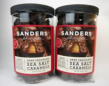 2 Melted Sanders Dark Chocolate Sea Salt Caramels 36 Ounce Containers 4.5 Pounds