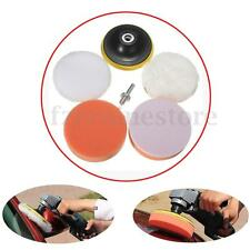 4'' Gross Polish Polishing Buffer Pads Kit Set Drill Adapter For Car Polisher