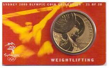 2000 $5 UNC Coin Sydney Olympic Coin - NO OUTER COVER - 21 of 28 - Weightlifting