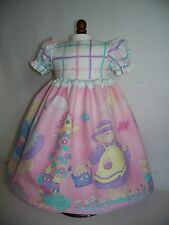 Dress for American Girl Doll  Bitty Baby or Bitty Twin dolls - Bunnies