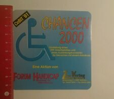 Pegatina/sticker: oportunidades 2000 cebit 91 foro handicap (271016190)