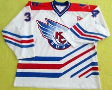 Original 2000-01 Soviet Wings GAME WORN Jersey-34/Russia/FREE SHIPPING WORLDWIDE