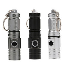 1300LM Superbright CREE LED Flashlight Key Ring Torch Rechargeable 16340 Light