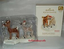2006 HALLMARK ORNAMENT RUDOLPH AND CLARICE RUDOLPH THE RED-NOSED REINDEER MAGIC
