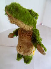 Steiff Crocodile hand puppet  alligator hand puppet button flag Germany1219