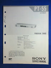 SONY PT-55 PROGRAM TIMER ORIGINAL SERVICE MANUAL