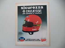 advertising Pubblicità 1974 CASCO DIWS DIVUESSE GRAND PRIX