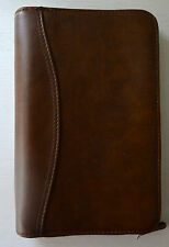 DAY TIMER NAVIGATOR Brown Leather ? Zip Around Organizer Binder Agenda 6 Ring BQ