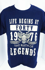 1976 Life Begins at Forty The Birth of Legends Blue T Shirt Eagle Celtic Braid L