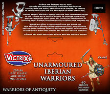28MM UNARMOURED IBERIAN WARRIORS - VICTRIX - ANCIENTS - VX0012 - SENT 1ST CLASS!